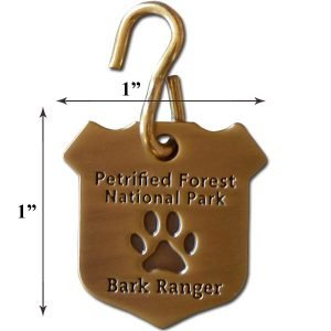 Small Petrified Forest N.P. Bark Ranger Dog Collar Tag