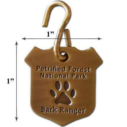 Small Petrified Forest N.P. Bark Ranger Dog Collar Tag