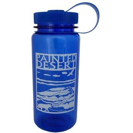 Blue Painted Desert Plastic Water Bottle