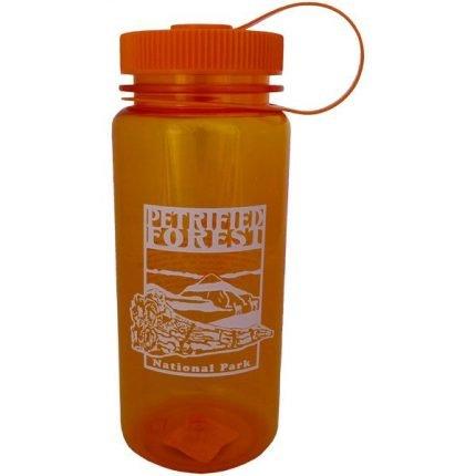 Orange Petrified Forest Plastic Water Bottle