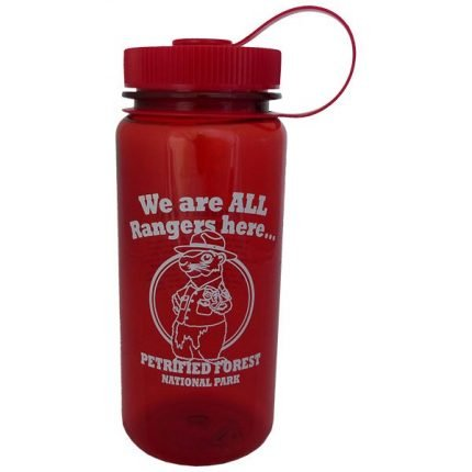 Red Woodchuck Plastic Water Bottle