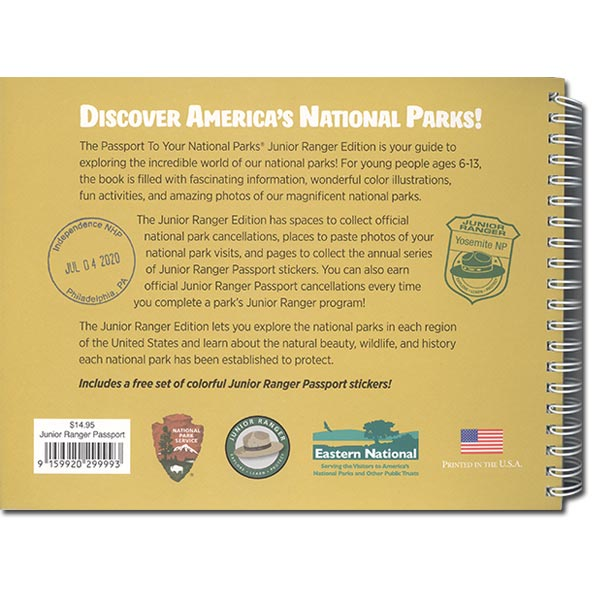 Passport to Your National Parks - Junior Ranger Edition (back view)