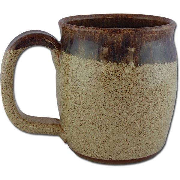 "Petrified Forest ""Old Faithful Log"" in Cinnamon Bun color - back of mug"