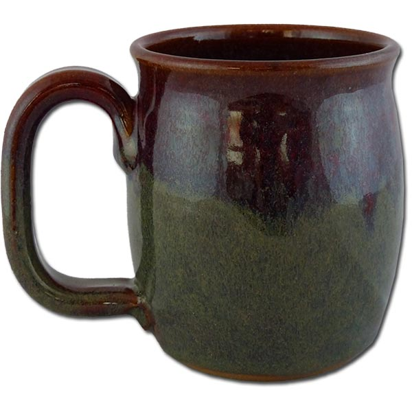 "Petrified Forest ""Old Faithful Log"" in Cranberry Bog color - back of mug"