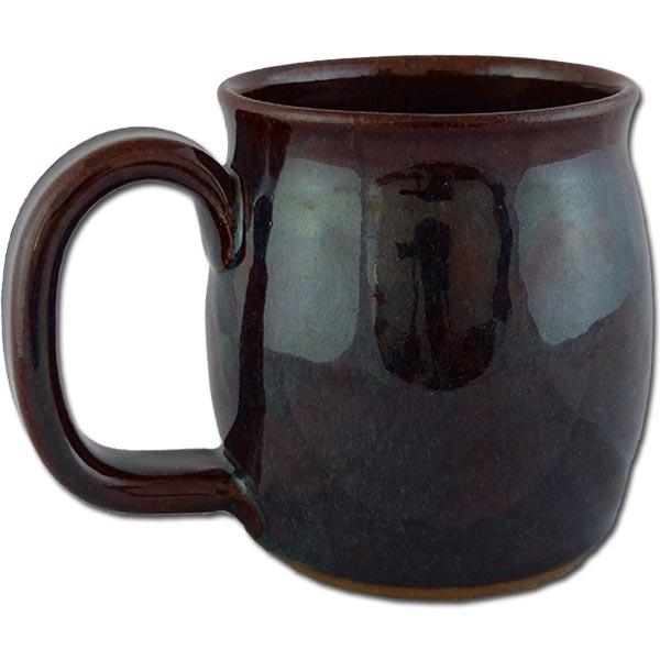 Petrified Forest Phytosaur mug in Root Beer color - back of mug