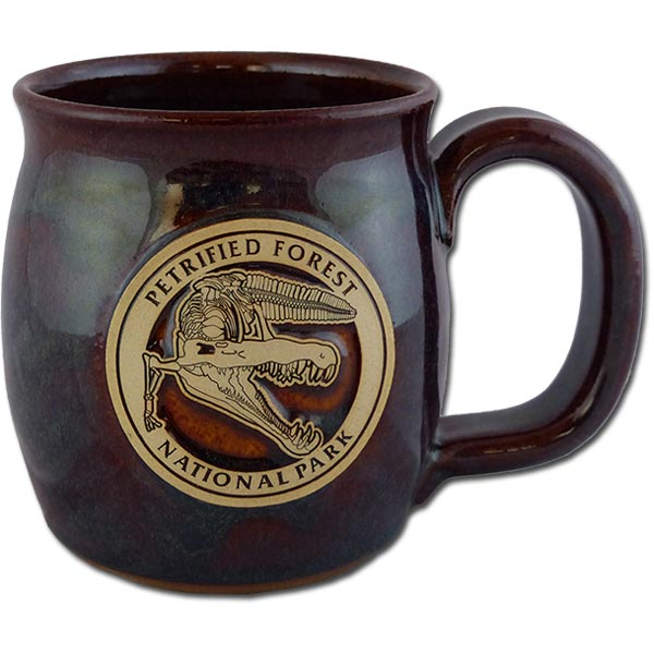 Petrified Forest Phytosaur mug in Root Beer color