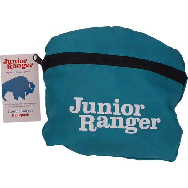 Junior Ranger Collapsible Backpack inside integrated pouch