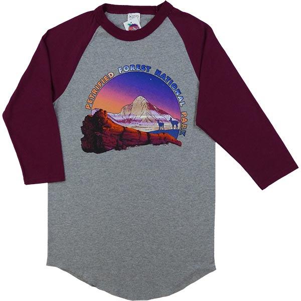 Baseball Raglan Heather T-Shirt in Maroon