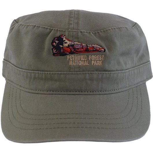Military Style Cap in Olive Green