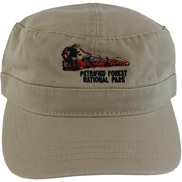 Military Style Cap in Sand