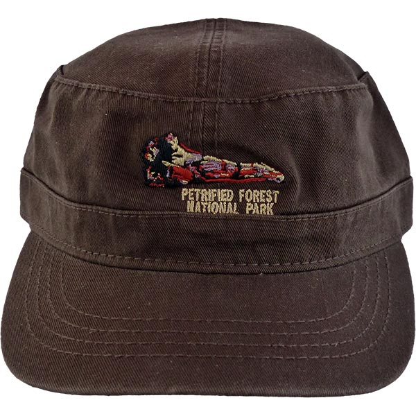 Military Style Cap in Brown